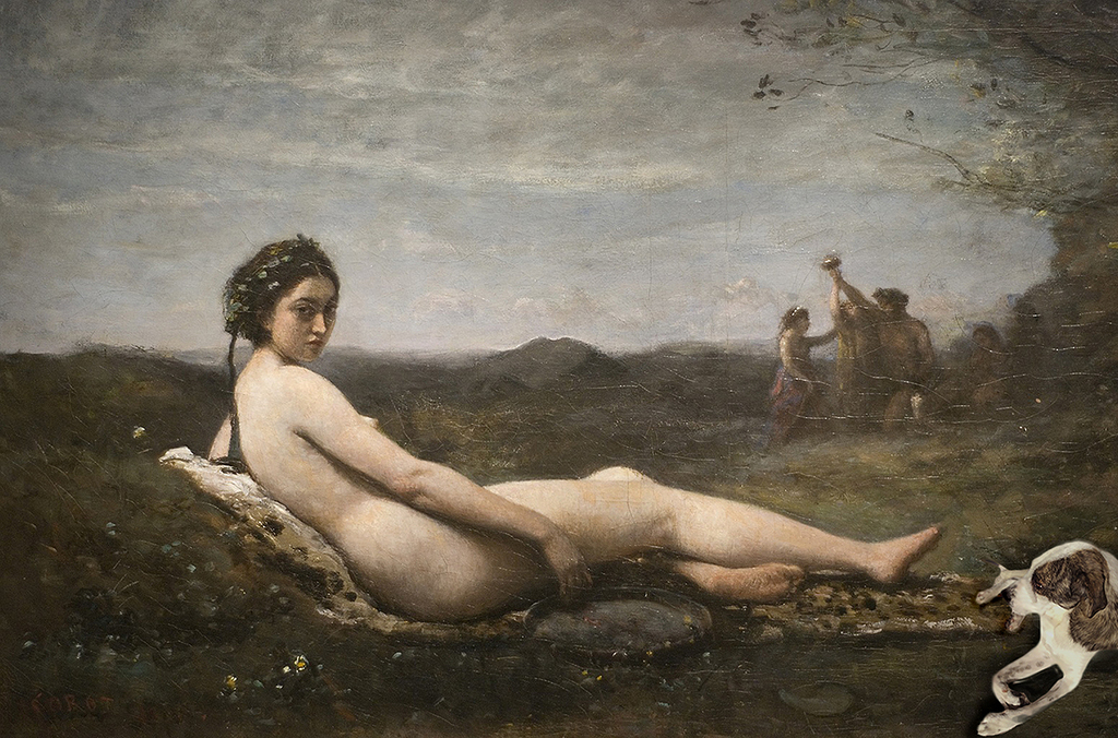 Blue Observes Mr Corot's Modesty and Restraint