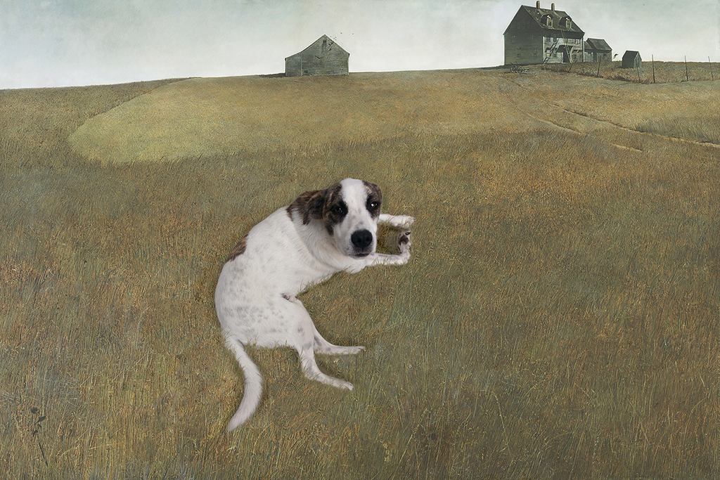 Blue Visits Mr Andrew Wyeth