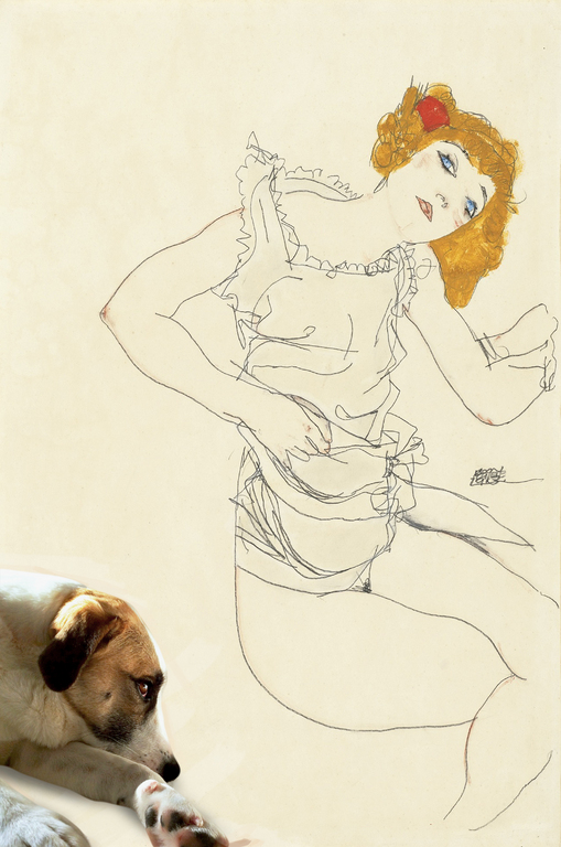 Mango Finds Frau Neuzil Stunning and mr Schiele Heartily Agrees